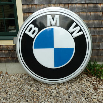 BMW Motorcycle Shop Sign