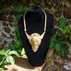 Art Nouveau Filigree Backed Necklace