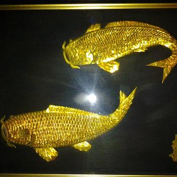 Framed Origami koi fish