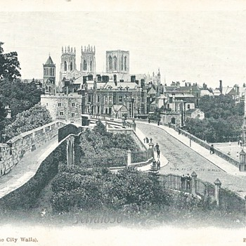 "YORK ""FROM THR CITY WALLS"" c 1900 - Postcards"