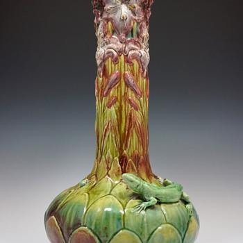 1898 Émile Muller et Cie & Alexandre Vibert Large Ceramic Vase - Art Nouveau