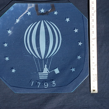 1793 Glass Dish , First Balloon Flight in America