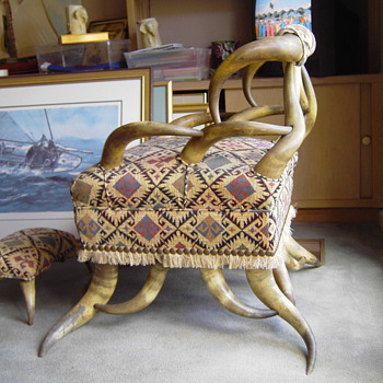 1900's Texas Long Horn Chair - Furniture