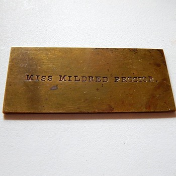 Stamped Brass Invitation ?  1911 - Firefighting