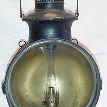 Early Steam Locomotive Headlamp - Railroadiana