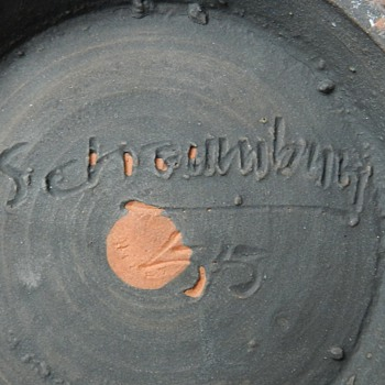 "Studio Art Pottery - Unreadable Signature ""SCH-UMB-Y"" - 1955"