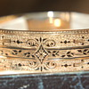 2 Rose gold 'email de talle d' epargne bracelets in original hinged box