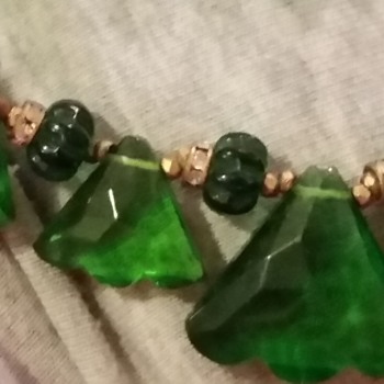 Green Miriam Haskell Necklace  - Costume Jewelry
