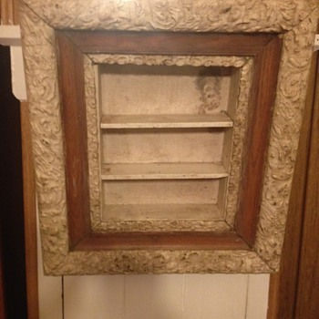 Framed Curio Wall Shelf