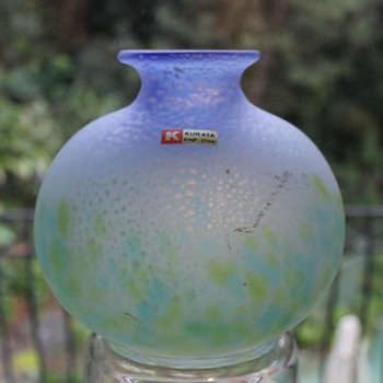 Kurata small scenic vase - The Meadow - Art Glass
