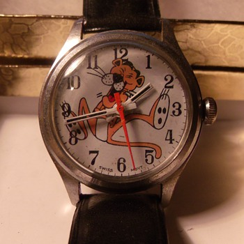 Mid 1960's Pink Panther Wrist Watch