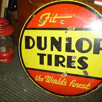 round dunlop double sided sign - Signs