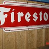 Firestone Porcelain Sign...Single Sided...Dated 1958...Two Colors