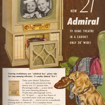 1952 - Admiral Radio/Phono/Television Advertisement