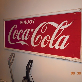 24&quot;x60&quot; Coca-Cola Sign by Donasco