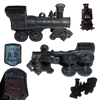 French penny toy Train whistle