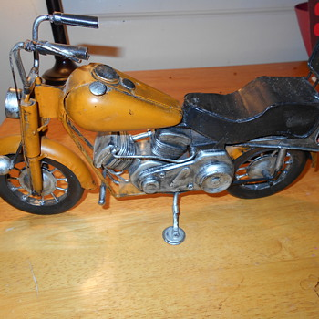 Harley pan head tin toy