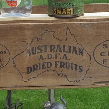 Wood Crate Box For Waikerie Co-op Fruit Co. Ltd South Australia  - Advertising