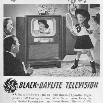 1951 - Gen. Elec. Model 17C109 Console TV Advertisements
