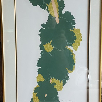 """Sauvignon Blanc"" Linocut by Henry Evans"