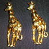 a Pair of Giraffe Figural Pins