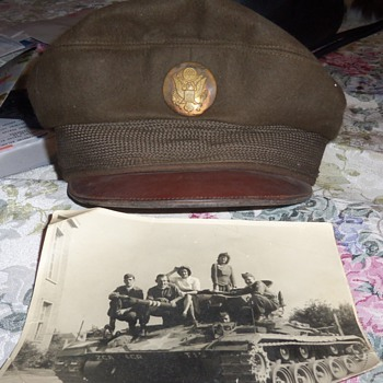 An old military cap and picture that I found inside it