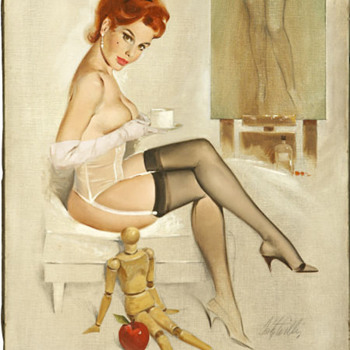 Pin Up with Bellin's manikin and my apple ! :-)