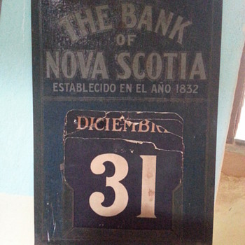 Calendar - Bank of Nova Scotia / Branch Havana, Cuba 1906 