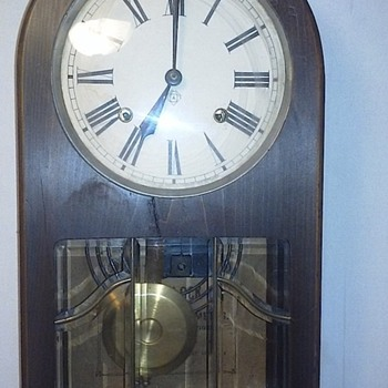 Todays find ansonia wall clock finaly got one