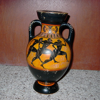 REPLICA GREEK VASE painted by N. Lyrintzi - Art Pottery