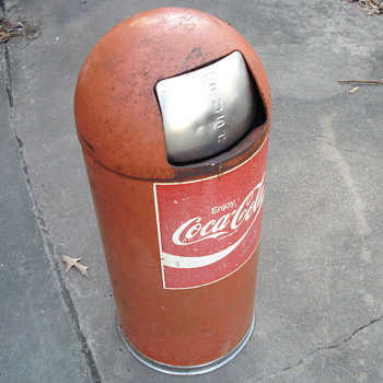 Coca-Cola trash can - Coca-Cola
