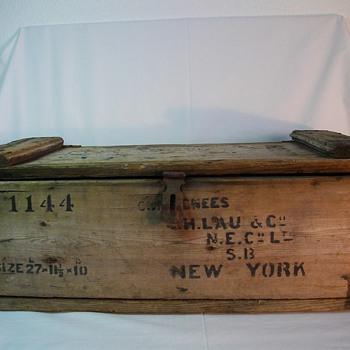 Alfred Nobel Ballistite/Explosive Shipping Crate Glasgow Scotland