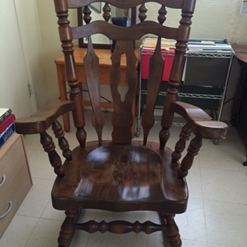 Large and Heavy Wood Rocking Chair