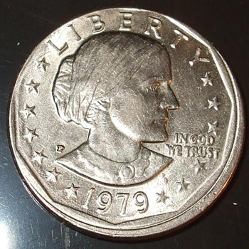 Susan B. Anthony us dollar 1979P error us coin Uncentered Broadstrike