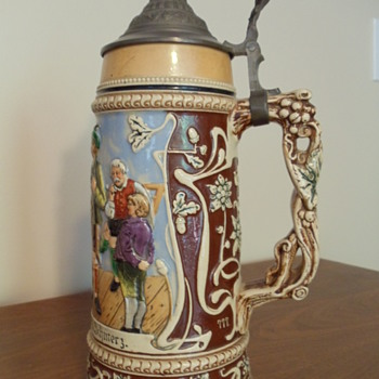 12 in. German Stein Circa 1870's. Family heirloom. - Breweriana