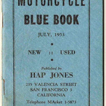 "1953-1955 ""Hap Jones"" Motorcycle Blue Books"