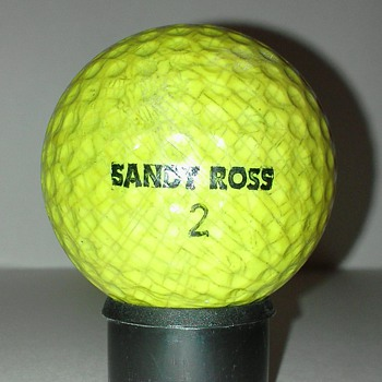 Yellow Sandy Ross Signature Golf Ball