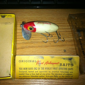 jitterbug buy  Fred Arbugast box an papers - Fishing