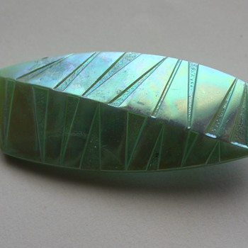 Glass brooch