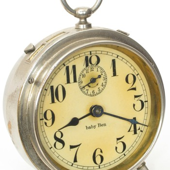 Early Westclox Baby Ben Alarm Clocks, 1913 - 1917