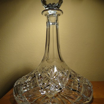 ROYAL DOULTON -ENGLAND  - CRYSTAL DECANTER