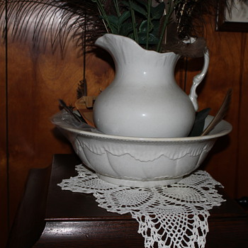 Water Bowl and Pitcher - China and Dinnerware