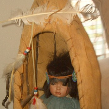 I need you to see my little teepee (tipi) for a doll?? - Dolls
