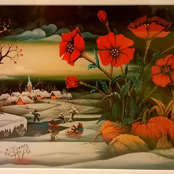 A Bit Of Winter Cheer For My CW Friends - Thrift Shop Find, $2.75 - Visual Art