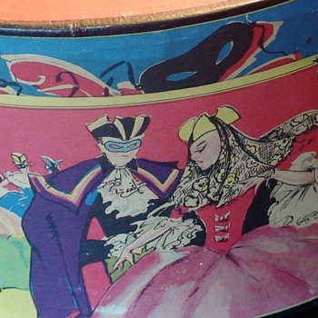Masquerade Scene Hat Box - Hats