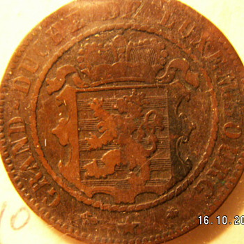 1865 Luxembourg 10 Centimes - World Coins