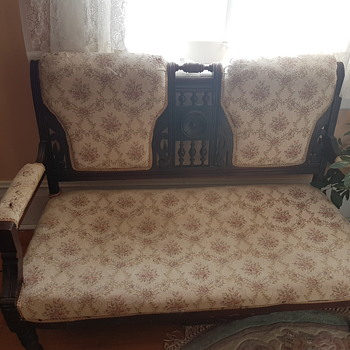 Unknown Settee and armoire