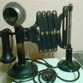 I have a western electric 323 w scissor phone patented on may 11 1909 that my grandfather gave to me.  - Telephones