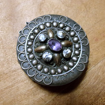 Victorian Pill Box .925 Silver - Art Nouveau