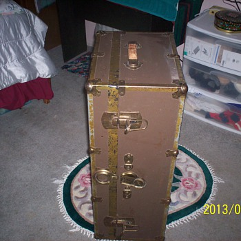 Antique Steamer Chest or Trunk - Furniture